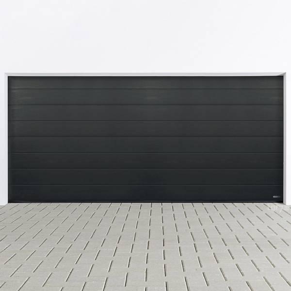 Hörmann Sektionaltor 5000 x 2125 mm inkl. Garagentorantrieb in RAL 7016