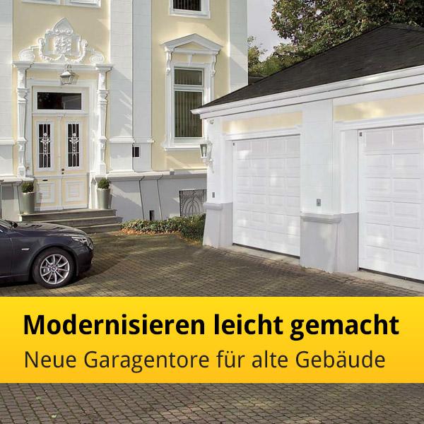 Garage modernisieren  Modernisieren leicht gemacht - neue Garagentore für alte Gebäude ...