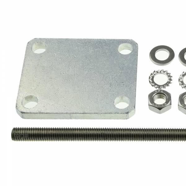 Hörmann Pfeiler-Konterplatte PK 1, Stahl verzinkt, für RotaMatic