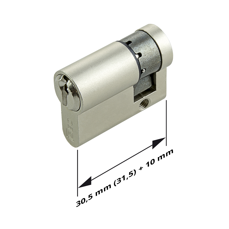 Beliebt Hörmann Profil-Halbzylinder, 30,5 (31,5) + 10 mm NX23