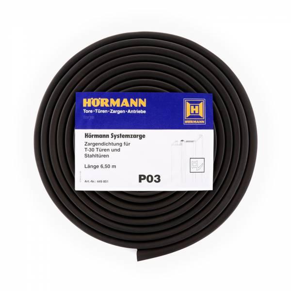 Hörmann Zargendichtung für T30-Türen und Stahltüren, P03, Länge 6,50 Meter
