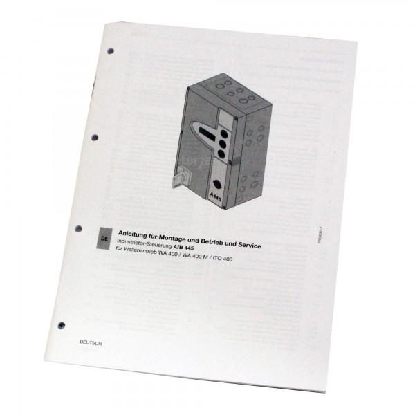 Hörmann Einbauanleitung für Industrietor Steuerung A/B 445