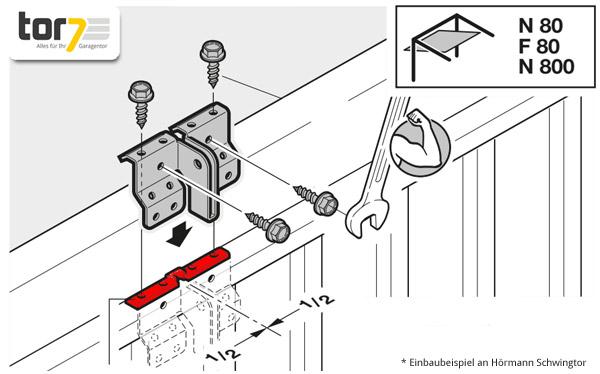 hoermann-distanzstueck-mitnehmerwinkel-montageabbildung