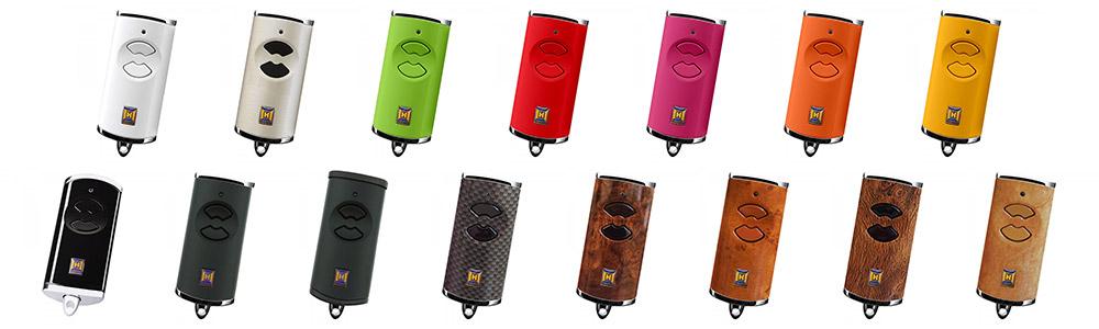 Erhältliche Farben des Hörmann Handsenders HSE 2