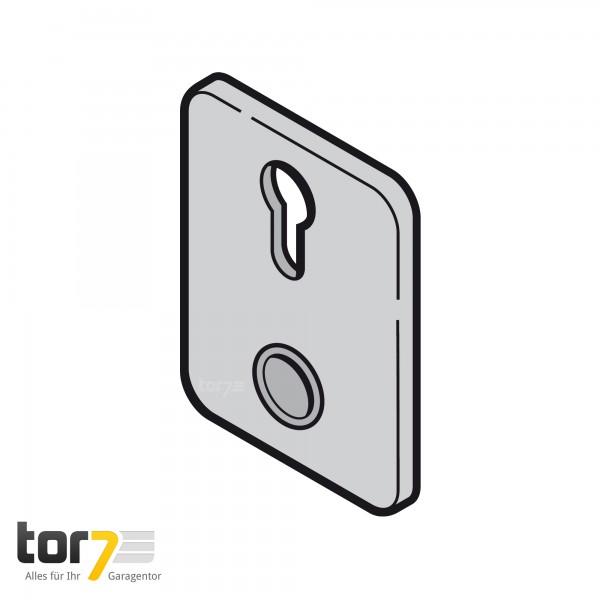 Hörmann Torgriffschild für Profil Zylinder, RAL 9011
