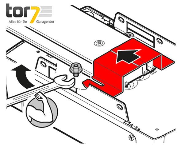 hoermann-buegel-zur-befestigung-des-antriebskopf-montageabbildung