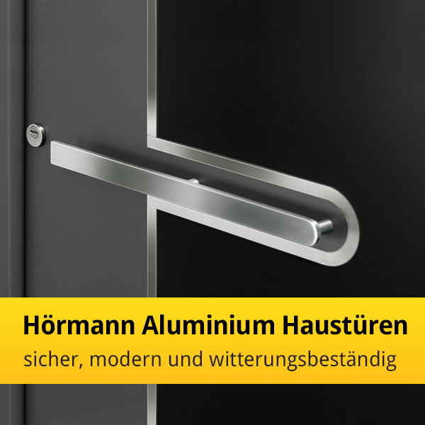 h rmann aluminium haust ren sicher modern und. Black Bedroom Furniture Sets. Home Design Ideas