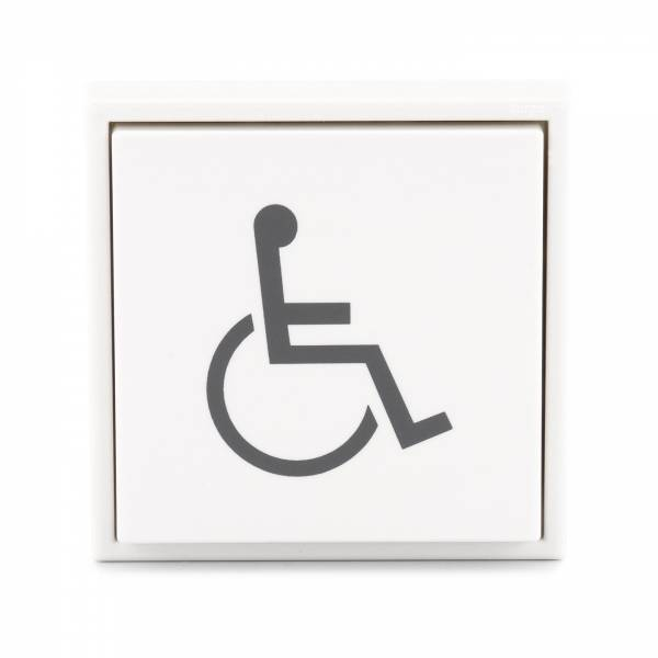 "Hörmann Innentaster ""Rollstuhl"", weiß"