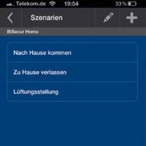 BiSecur App Szenarien einrichten