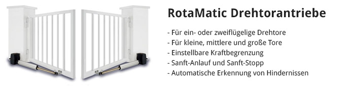 RotaMatic Drehtorantriebe