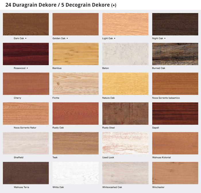 Duragrain und Decograin Dekore