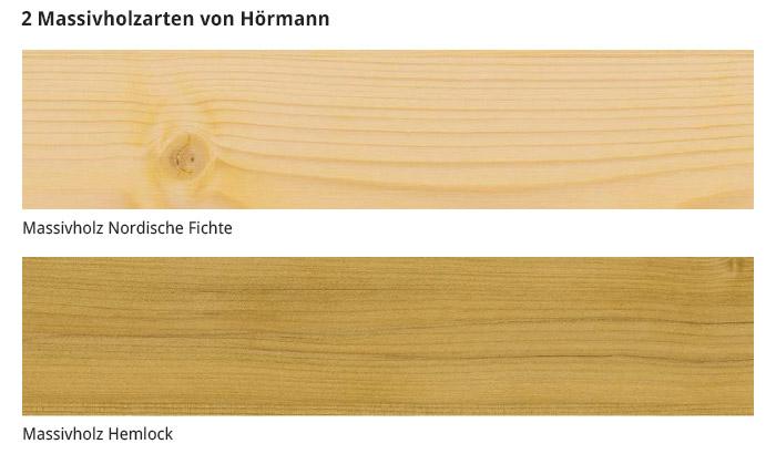 Massivholzarten von Hörmann