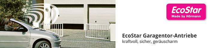 EcoStar Garagentor-Antriebe kraftvoll, sicher und geräuscharm