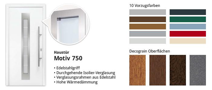 Haustür Motiv 750 in verschiedenen Farben
