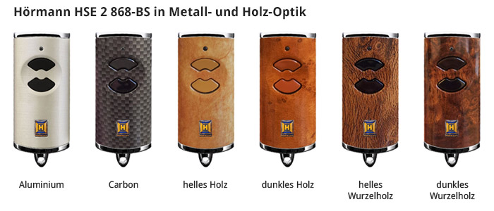 Hörmann HSE 2 868-BS in Metall- und Holz-Optik