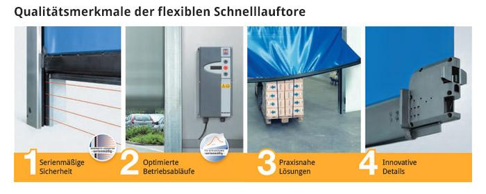Qualitätsmerkmale der flexiblen Schnelllauftore