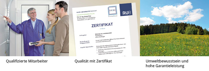 Hörmann Qualität mit Zertifikat