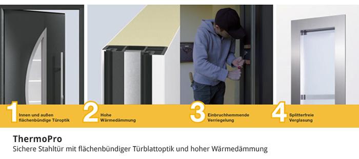 ThermoPro - Sichere Stahltür mit Wärmedämmung