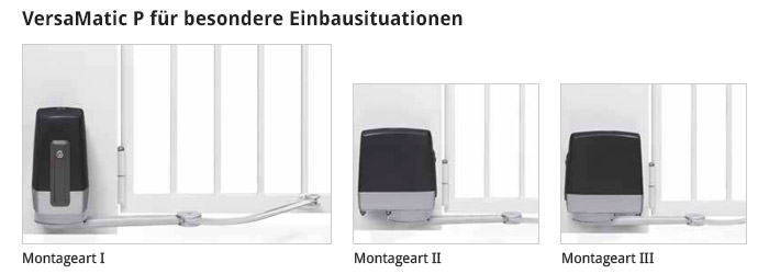 Hörmann VersaMatic P Einbausituation