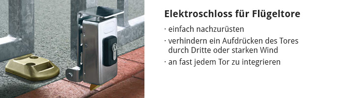 Elektroschloss für Flügeltore
