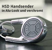 HSD Handsender in Alu-Look und verchromt