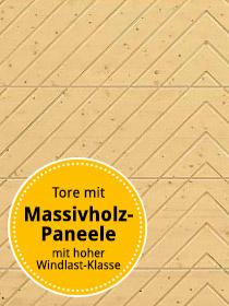 Tore mit Massivholz- Paneele mit hoher Windlast-Klasse