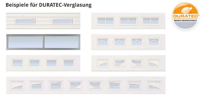 Beispiele für DURATEC-Verglasung