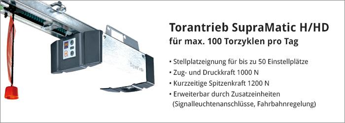 Torantrieb SupraMatic H/HD für max. 100 Torzyklen am Tag
