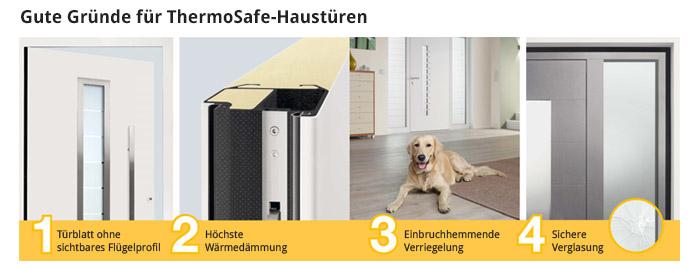 Gute Gründe für ThermoSafe-Haustüren