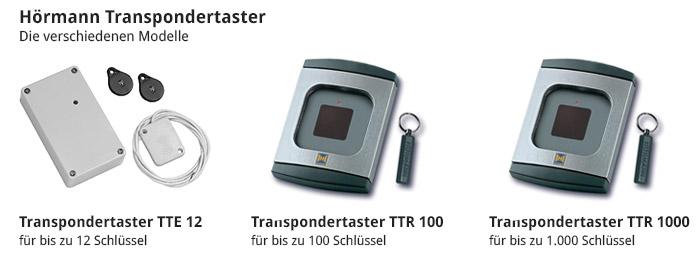 Die verschiedenen Hörmann Transpondertaster Modelle