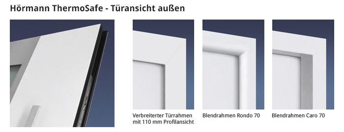 Hörmann ThermoSafe - Türansicht außen