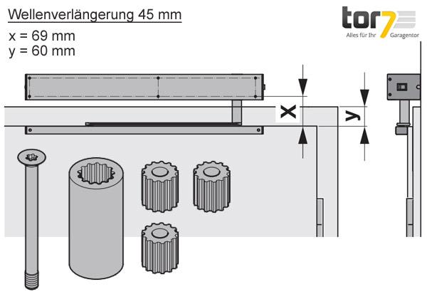 hoermann-wellenverlaengerung-45mm-portamatic-detailansicht