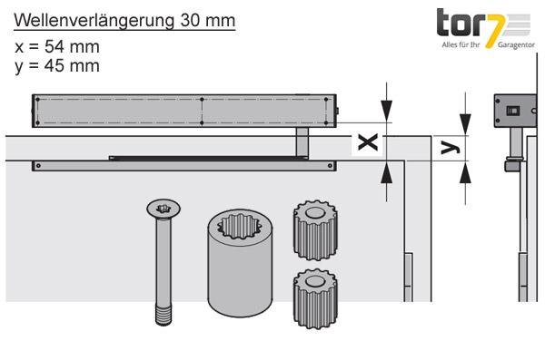 hoermann-wellenverlaengerung-30mm-portamatic-detailansicht