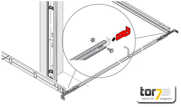 hoermann-knotenblech-verbindungsschiene-montage-detailansicht