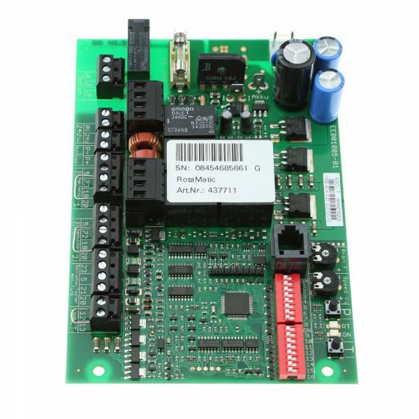 Seitenansicht der Steuerungsplatine für RotaMatic Drehtorantriebe ohne Funkempfänger