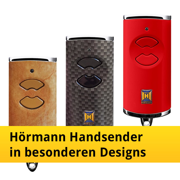 h rmann handsender in besonderen designs mehr als. Black Bedroom Furniture Sets. Home Design Ideas