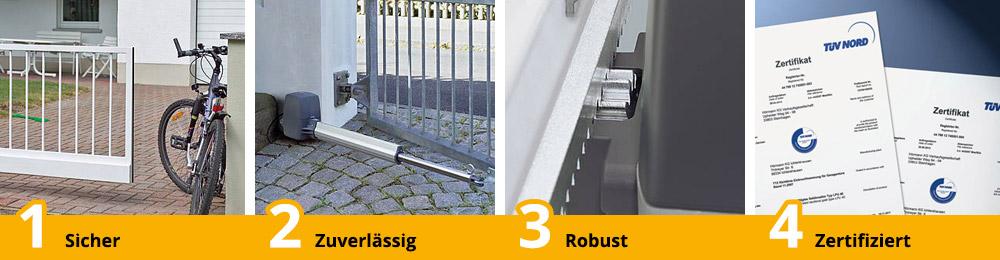 Vorteile RotaMatic Bisecur-Antriebe