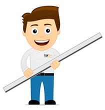 Hörmann Schienen gibt es in verschiedenen Längen für Ihren Garagentorantrieb